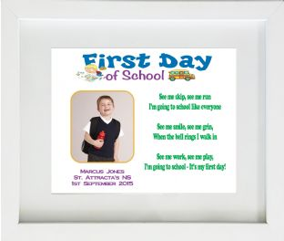 First Day at School Print Design 2